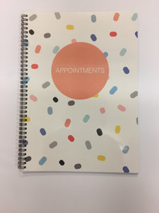 Appointment Book Pastel Dots  - 4/8 Columns