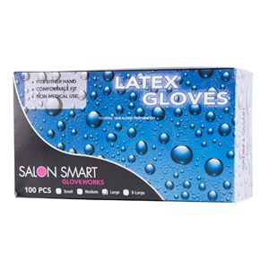 Salon Smart Latex Powder Free Gloves Small-100pk