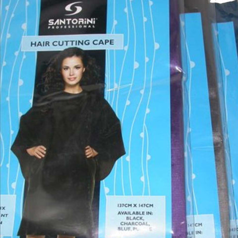 Santorini Haircutting Cape - Black