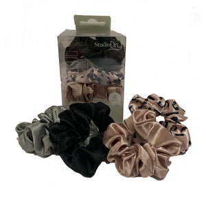 Studio Dry Hair Scrunchies - 4pk
