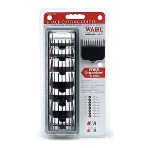 Wahl Clipper Cutting Guides x8 Combs - Black