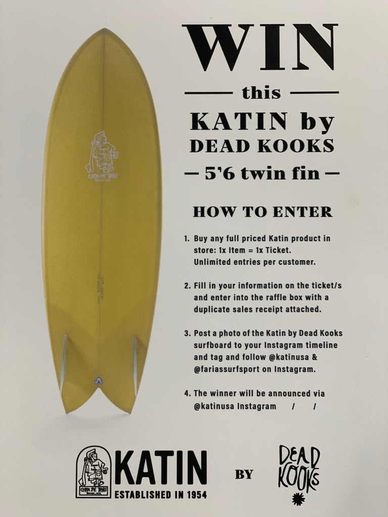 WIN A KATIN SURFBOARD!