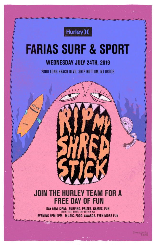 Hurley Rip My Shred Stick Tour