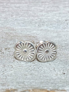 Flora Recycled Silver Stud Earrings