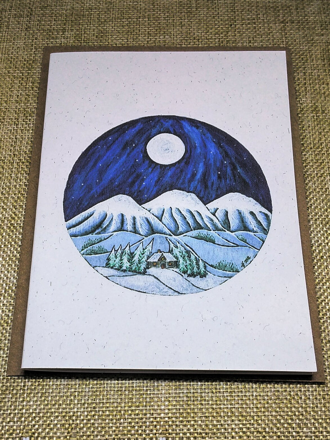 Blue Mountain Lodge  Eco-Friendly Greetings Card