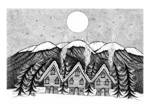 Load image into Gallery viewer, Midwinter Village Art Print