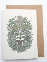 Load image into Gallery viewer, Bearded Green Man Eco-Friendly Greetings Card