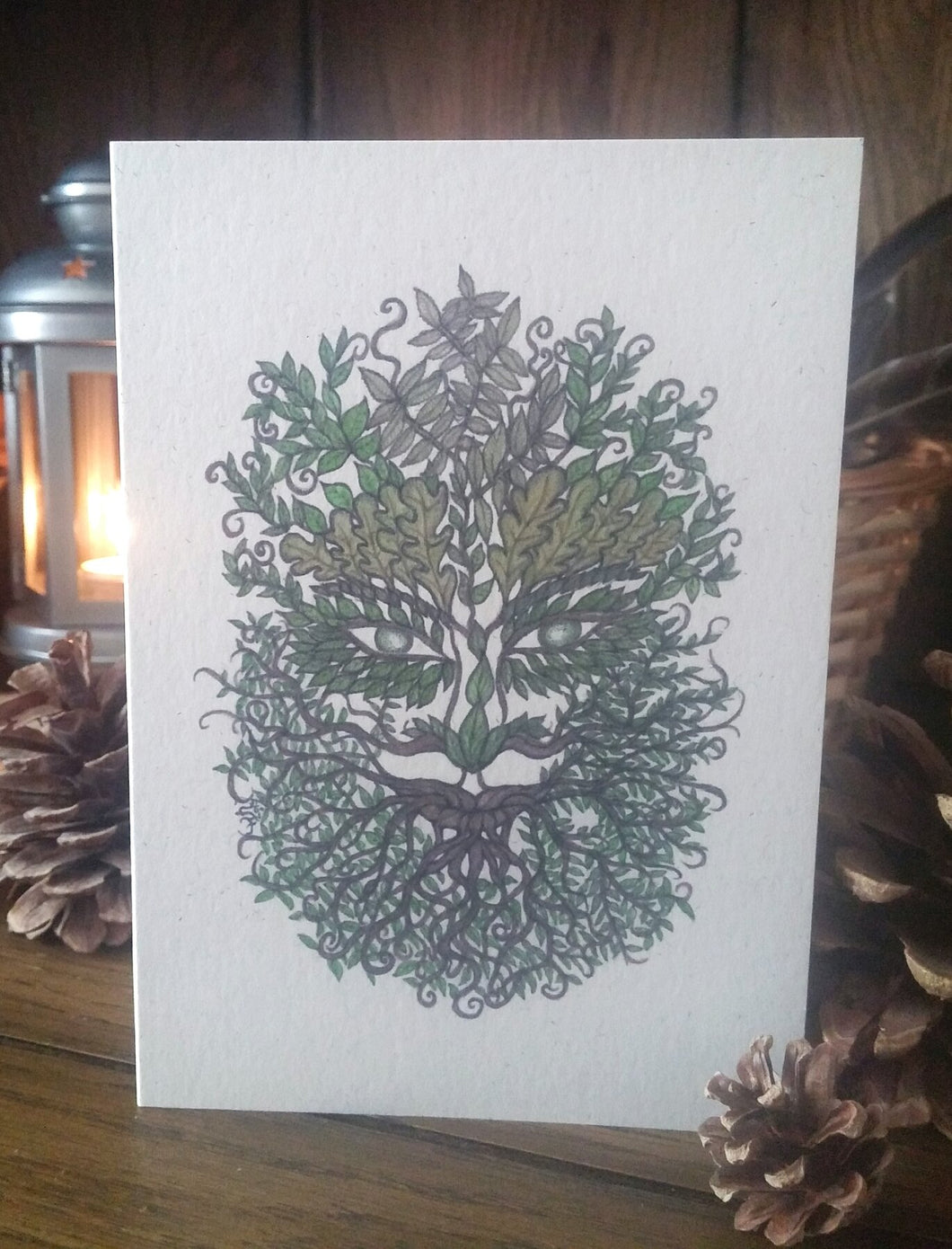 Bearded Green Man Eco-Friendly Greetings Card