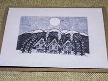 Load image into Gallery viewer, Midwinter Village Eco-Friendly Greetings Card