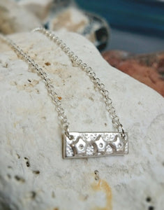 Star Bar Recycled Silver Necklace