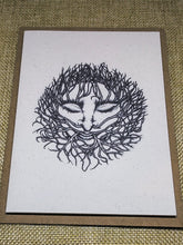 Load image into Gallery viewer, Winter Green Man Eco-Friendly Greetings Card