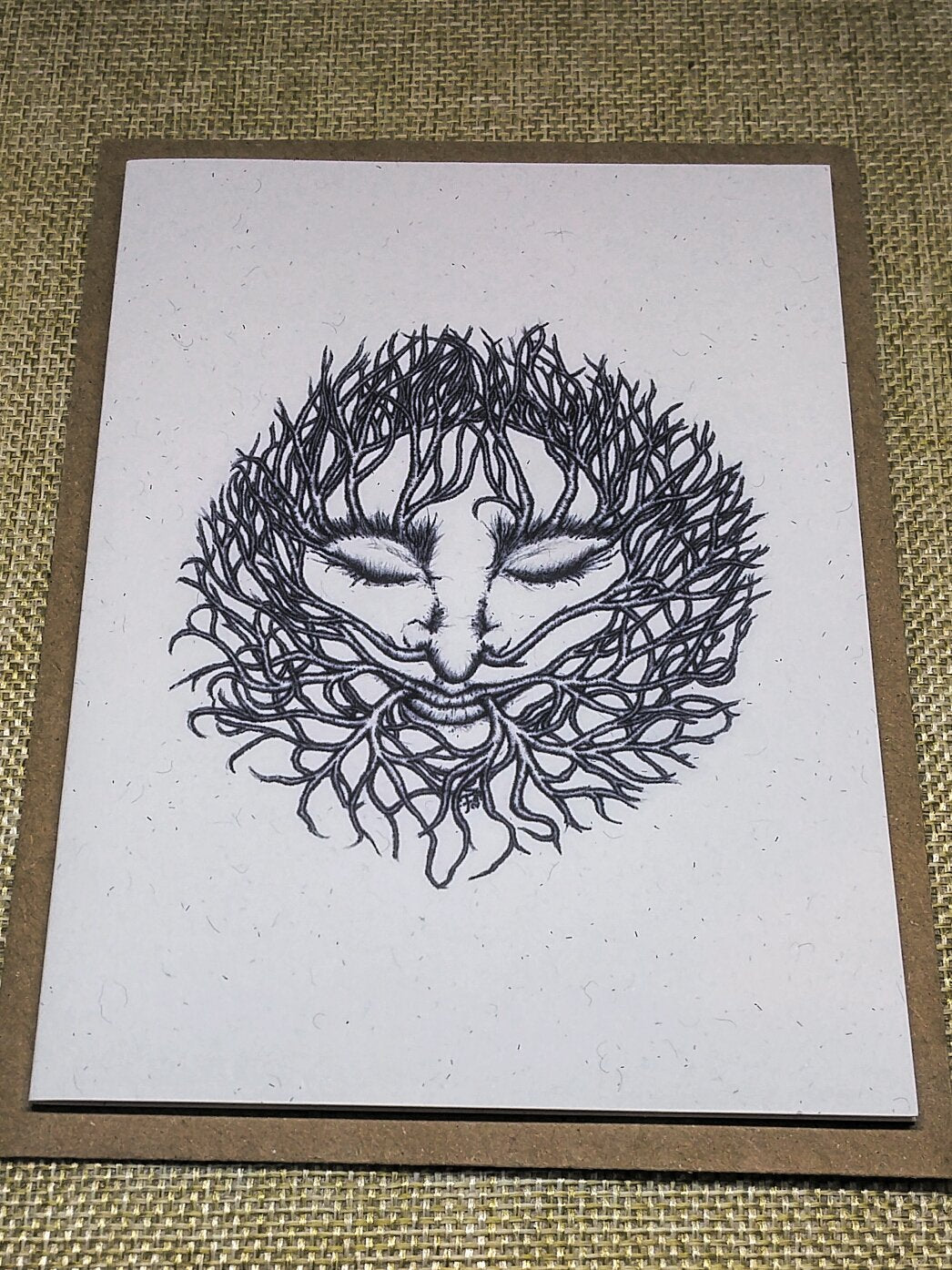 Winter Green Man Eco-Friendly Greetings Card