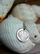 Load image into Gallery viewer, Cockleshell Tiny Recycled Silver Pendant