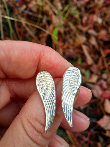 Spirit Wings Recycled Silver Earrings