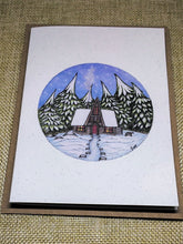 Load image into Gallery viewer, Pinecone Cabin  Eco-Friendly Greetings Card