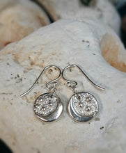 Load image into Gallery viewer, Moon & Stars Recycled Silver Drop Earrings