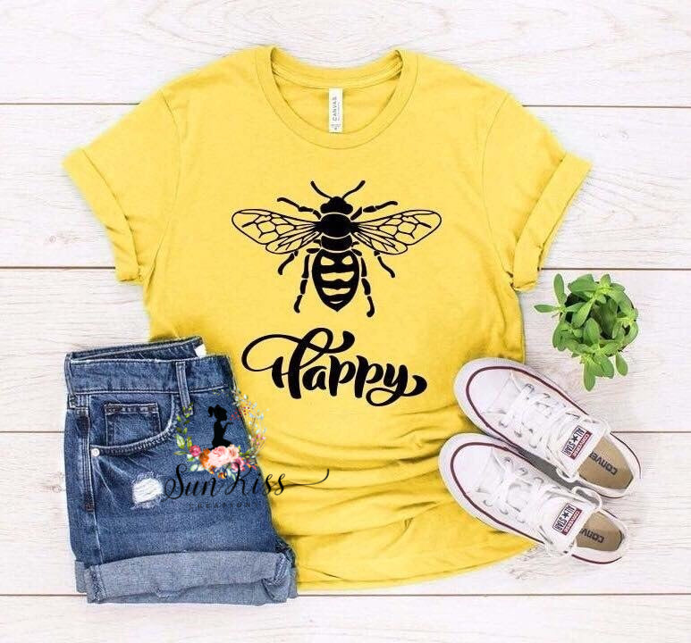 Bee Happy Tee - SKC Boutique