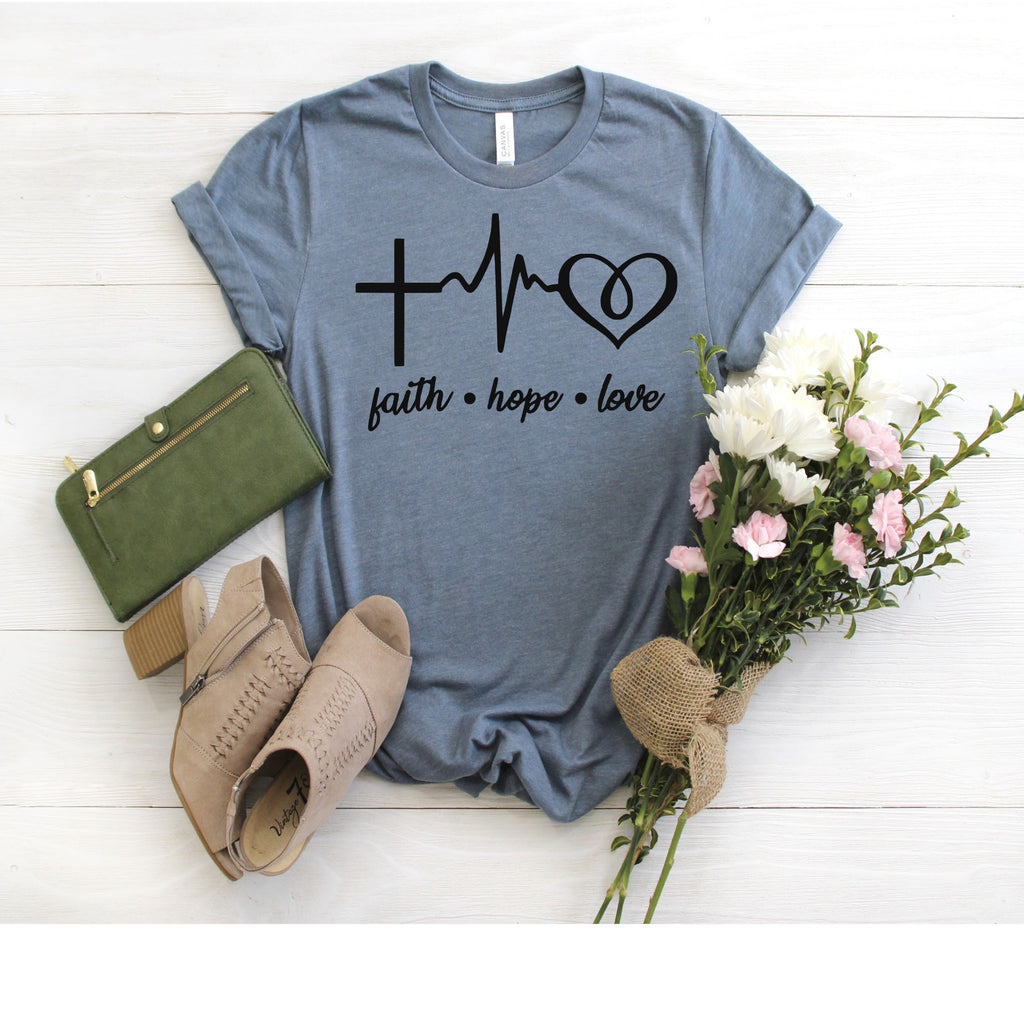 Faith Hope Love Tee (black design) - SKC Boutique