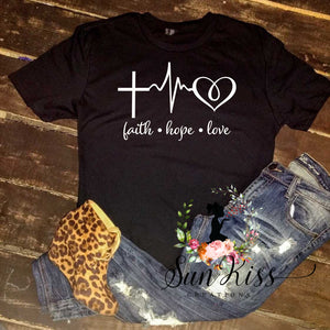 Faith Hope Love Tee - SKC Boutique