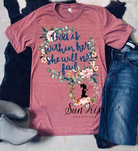 God Is Within Her She will Not Fail - SKC Boutique