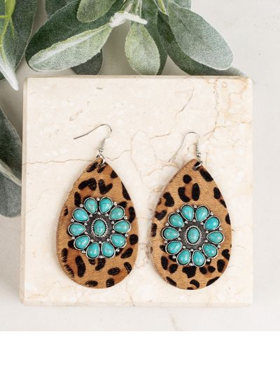 Wild West Leopard Drop Earrings - SKC Boutique