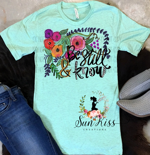 Be Still and Know Tee - SKC Boutique