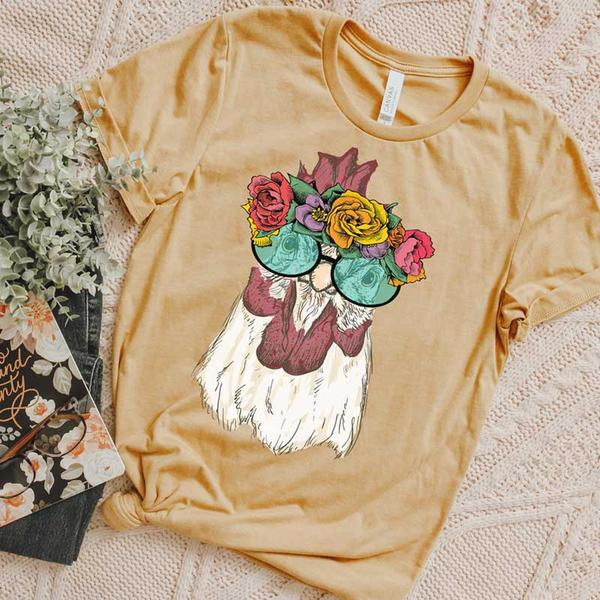Hippie Chicken Tee - SKC Boutique