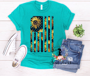 Sunflower Flag Tee - SKC Boutique