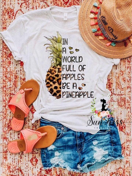 In A World Full Of Apples Tee - SKC Boutique