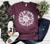 White Sunflower Tee - SKC Boutique