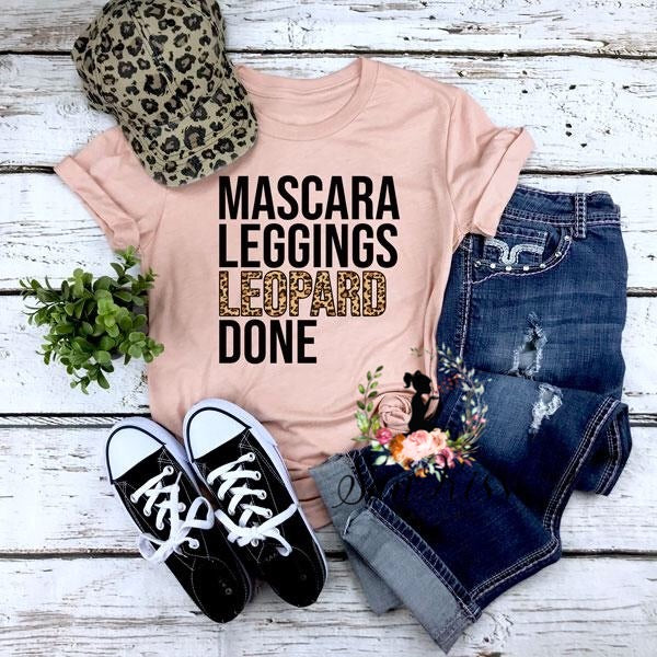 Mascara  Leopard Done Tee - SKC Boutique