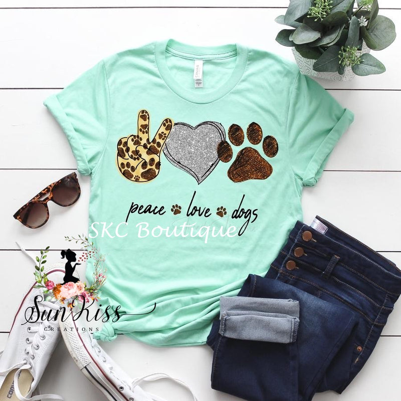 Peace Love Dogs Tee - SKC Boutique