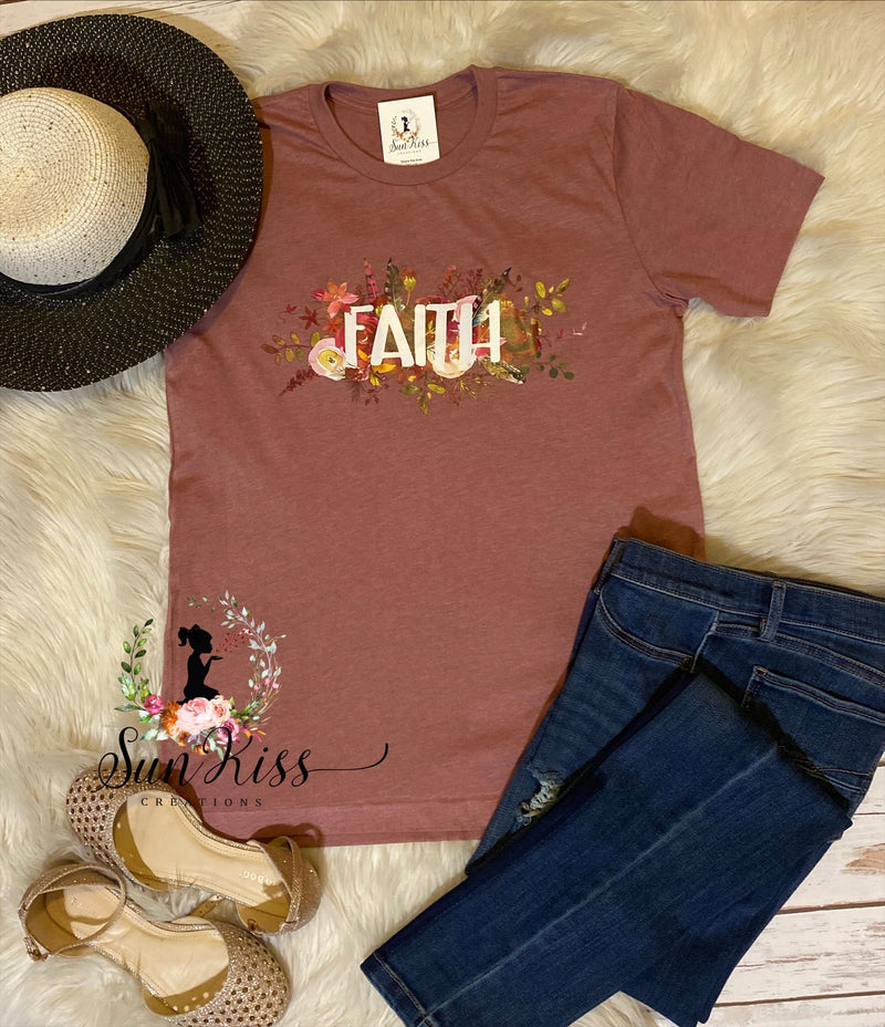 Faith Floral Tee - SKC Boutique