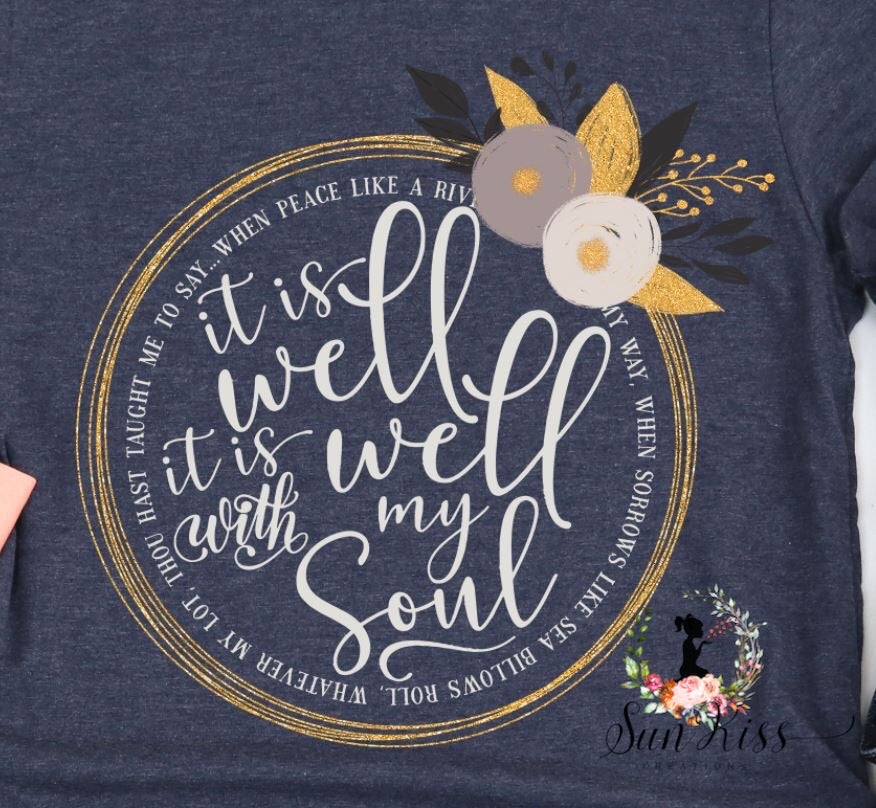 It Is Well With My Soul Floral - SKC Boutique