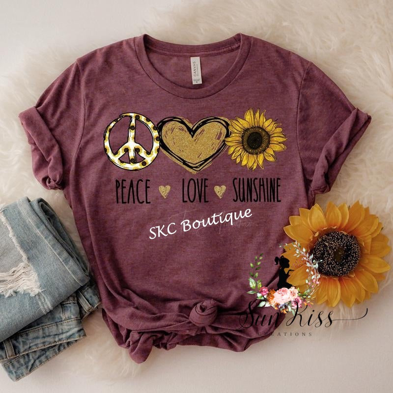 Peace Love Sunshine Tee - SKC Boutique