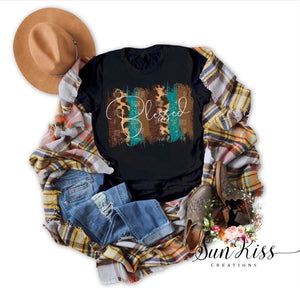 Blessed- Brush Strokes Fall Tee - SKC Boutique