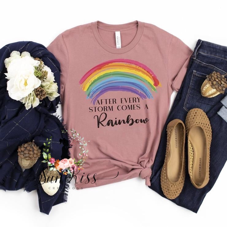 After Every Storm Comes A Rainbow Tee - SKC Boutique
