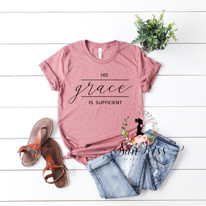 His Grace is Sufficient Tee - SKC Boutique