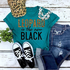Leopard is the new Black Tee - SKC Boutique