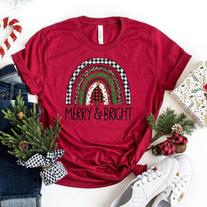 Merry & Bright Tee - SKC Boutique