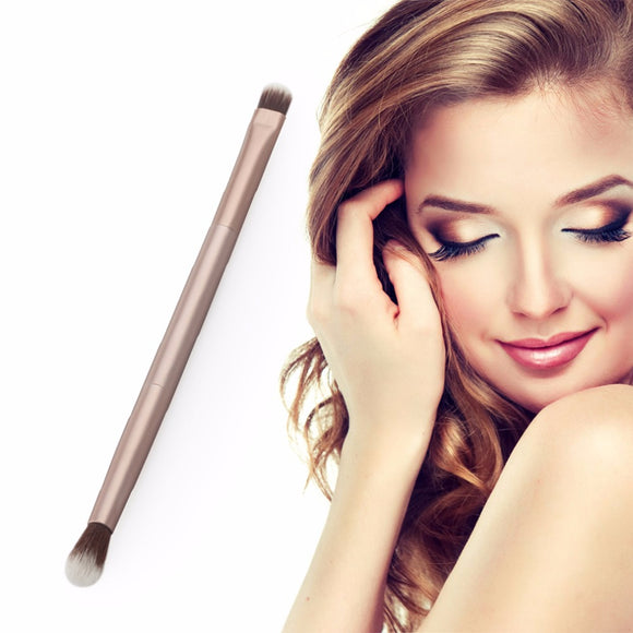 Gold Soft Synthetic Hair Metal Handle Doubled Ended Eyeshadow Eye Shadow Brush Cosmetics Makeup Brushes Make up Brush Tool Kits