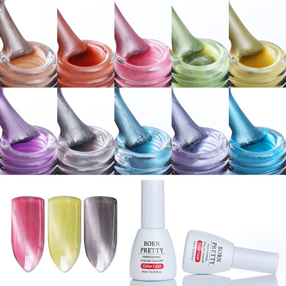 10ml Cat Eye Gel Polish Soak Off Base Top Coat Gel Jade Pearl Led UV Gel