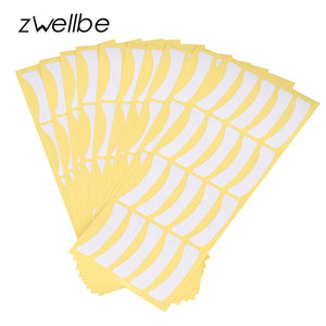 zwellbe 100pairs Wholesale Paper Patches Eyelash Under Eye Pads Lash Eyelash Extension Paper Patches Eye Tips Sticker Wraps