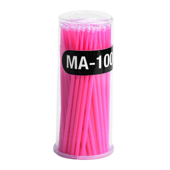 Makeup Cosmetic Individual False Eyelashes Eye Lashes Round Cotton Remover Microbrush