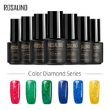 ROSALIND Gel 1S 7ML Color Diamond Series Glitter Nail Gel Polish UV LED Soak-Off Nail Art Base Top Coat Needed gel lacquer