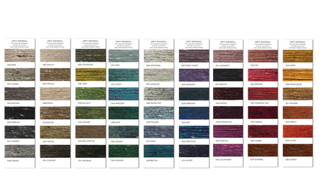 We can offer more than 459 million colour combinations with our selection of Donegal merino wool.