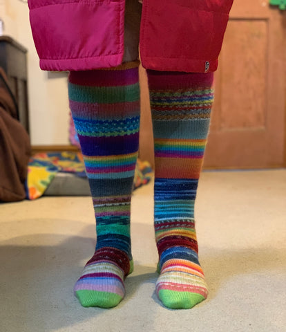 Wearing long Swizzle Socks is a great way to get warmth back into your body after a sea swim