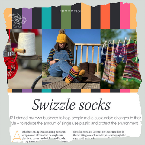 There is a Swizzle Socks promotion in the November issue of Devon Life