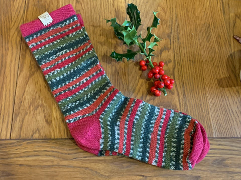 The bonus sock of the month is holly berries
