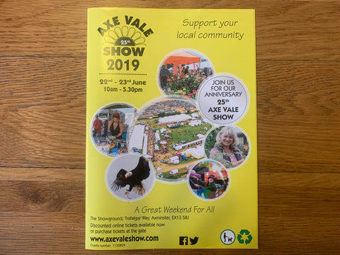 Swizzle and friends will be at the Axe Vale Show 2019